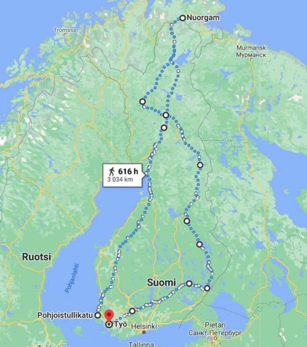 Kahdessa viikossa ollaan liikuttu jo yli 3000 kilometriä luonnosta nauttien. Hyvä VSP:n jengi! 💪🏼🏃🏻♂...