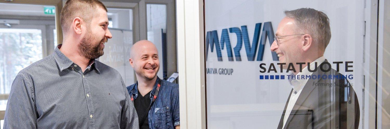 VSP:n ja Marva Groupin edustajat tekevät yhteistyötä tiiviisti.