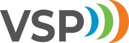 Vakka-Suomen Puhelimen eli VSP:n logo.
