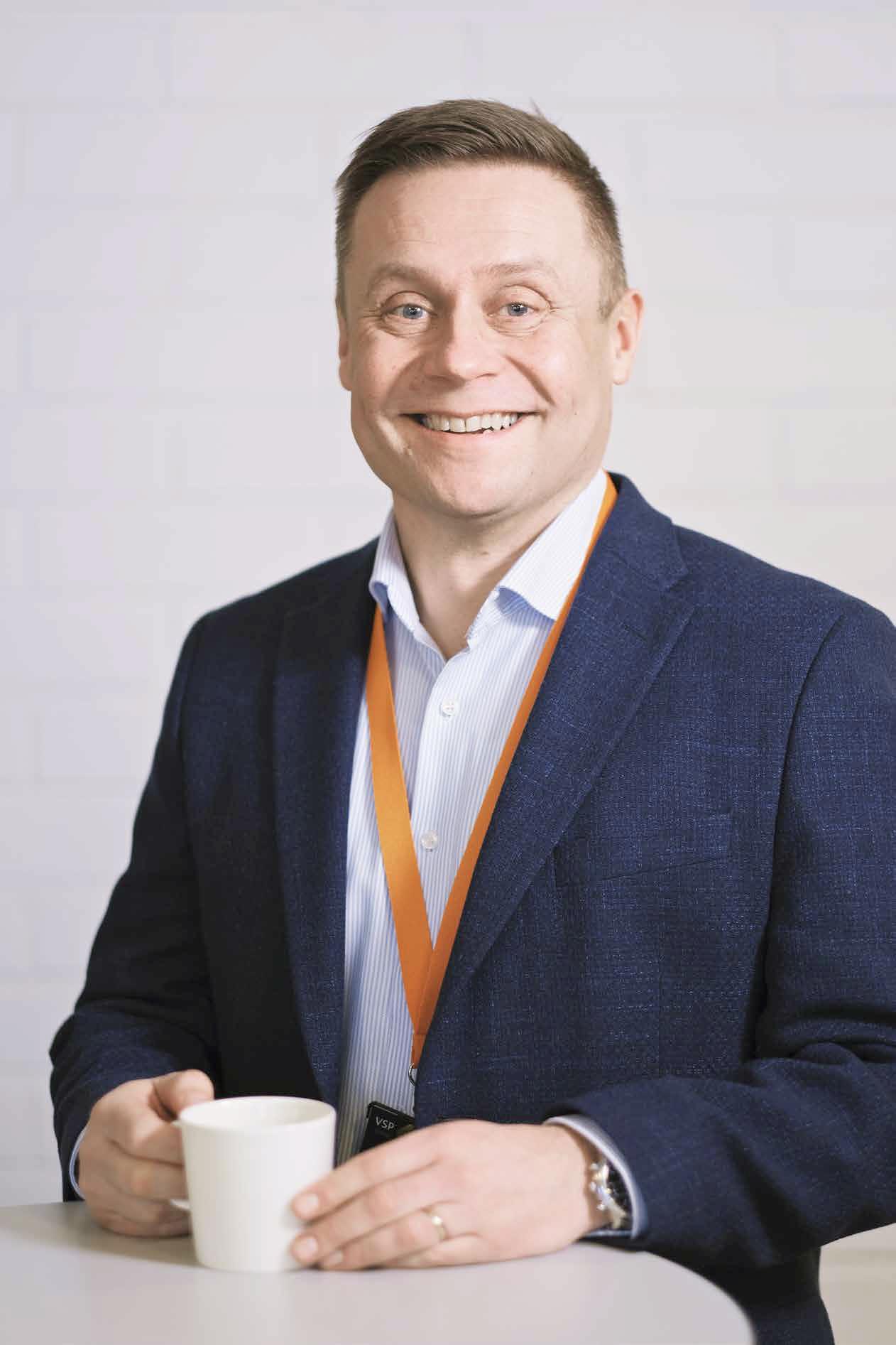 VSP:n eli Vakka-Suomen Puhelimen toimitusjohtaja Matti Nurmi.